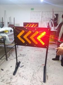 alquiler de barricadas luminosas
