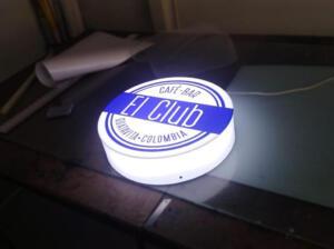 aviso circular luminoso