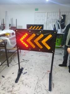 barricadas luminosas