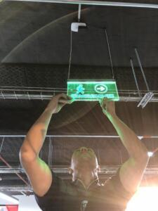 señalizacion con iluminacion